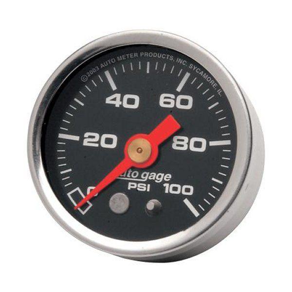 【USA在庫あり】 オートメーター Autometer 1-5/8インチ プレッシャーゲージ 0-100PSI 黒 2212-0003 JP