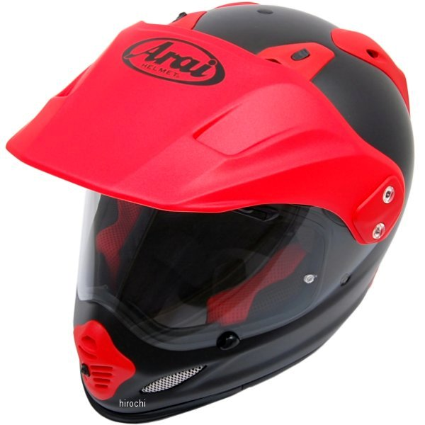 【メーカー在庫あり】 山城×アライ ヘルメット ツアークロス3 フラット黒/赤 Sサイズ (55cm-56cm) 4530935409525 JP店