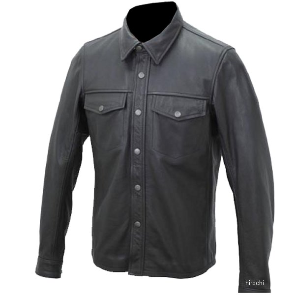 1162 カドヤ KADOYA レザーシャツ 黒 Lサイズ 1162-0/BKL JP店