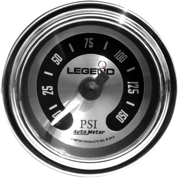 【USA在庫あり】 レジェンド LEGENDS 空気圧ゲージ 0-150psi フェアリング用 チタン/ライト 2212-0493 JP