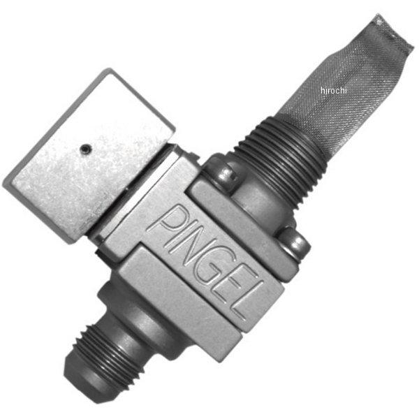 【USA在庫あり】 ピンゲル PINGEL フューエル バルブ 3/8インチ(9.5mm) NPT シングル 5/16インチ クリアアルマイト 498471 JP