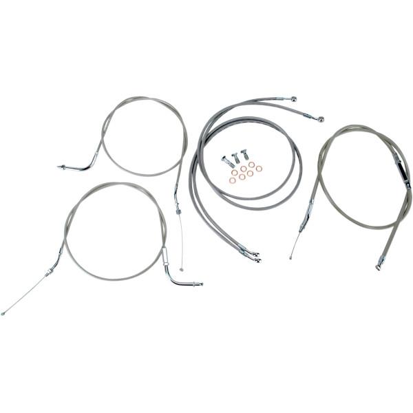 【USA在庫あり】 バロン BARON ケーブルライン セット 12インチ(305mm) 99年-03年 ロードスター XV1600A ステンレス 0650-1000 JP店