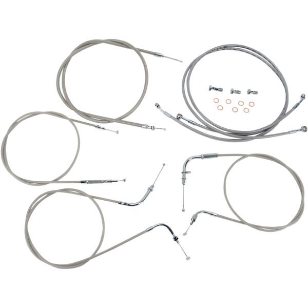 バロン BARON ケーブルライン セット 12インチ(305mm) 99年-09年 ドラッグスター XVS1100 ステンレス 0650-1003 JP店