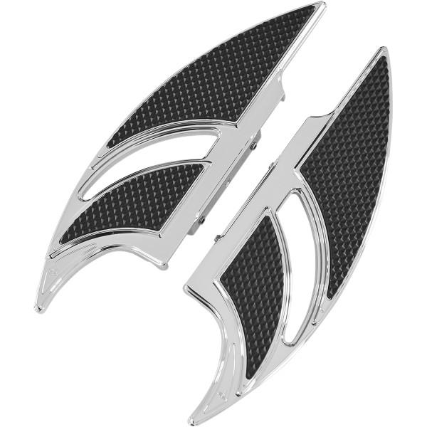 【USA在庫あり】 カールブロウハード Carl Brouhard Designs パッセンジャーフットボード エリートエッジ クローム 1621-0592 JP店