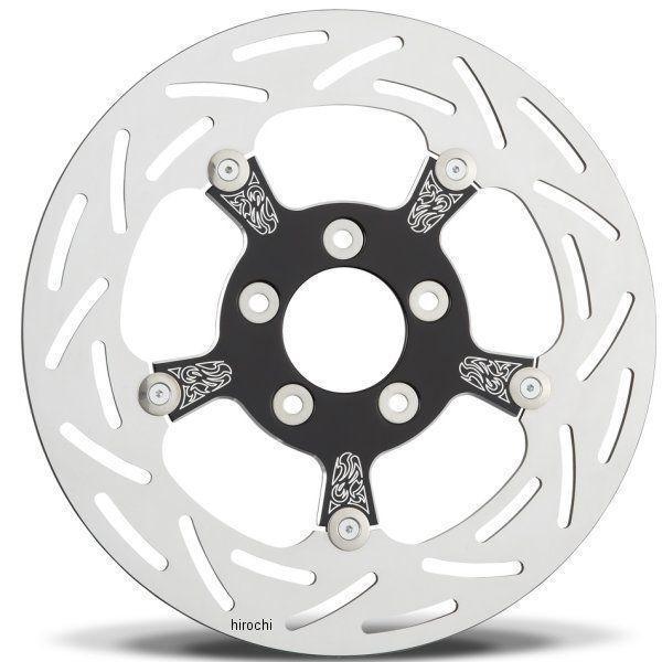 アレンネス Arlen Ness ブレーキ ディスクローター フロント イングレイブ 11.8インチ 08年以降 ツーリング 黒 02-739 JP店