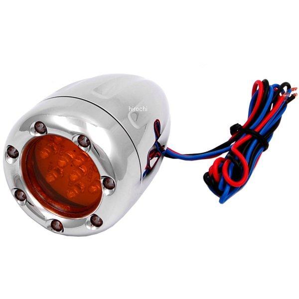 【USA在庫あり】 アレンネス Arlen Ness LED ウインカー ディープカット ダブル球仕様 クローム/白 (1個売り) 12-764 JP店