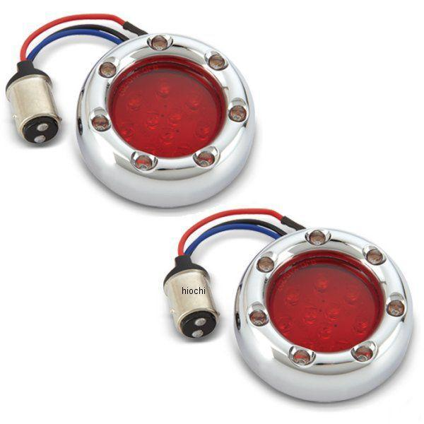 【USA在庫あり】 アレンネス Arlen Ness LED ウインカーリング クローム/赤/LED赤 12-754 JP店
