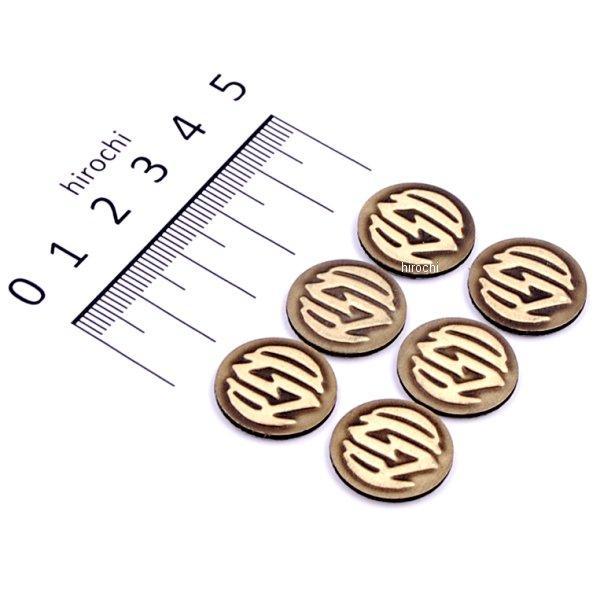 メーカー在庫あり ローランドサンズデザイン RSD バッジキット RSDロゴ いよいよ人気ブランド 6個入り 安全 真鍮 JP店 0208-2067