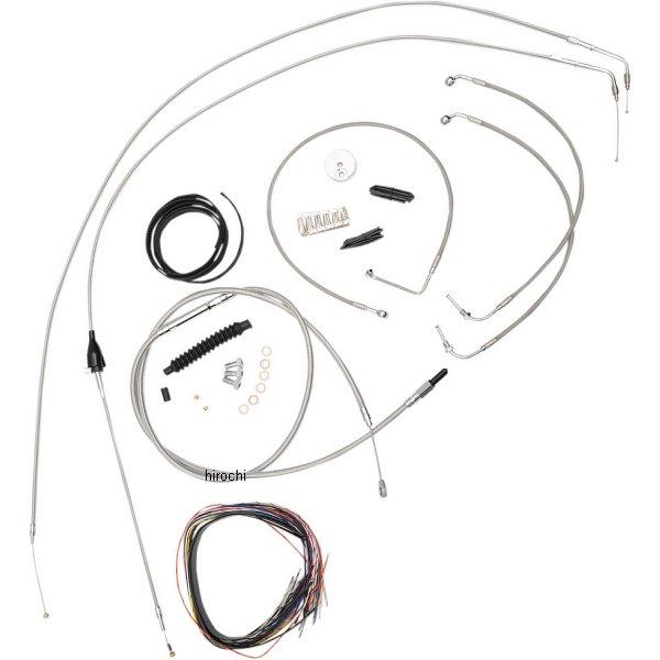 USA在庫あり セール 登場から人気沸騰 LAチョッパーズ LA Choppers ケーブルキット バーゲンセール ステンレス 07年 JP店 エイプバー用 FLHR FLTR 0610-1180 15-17インチ
