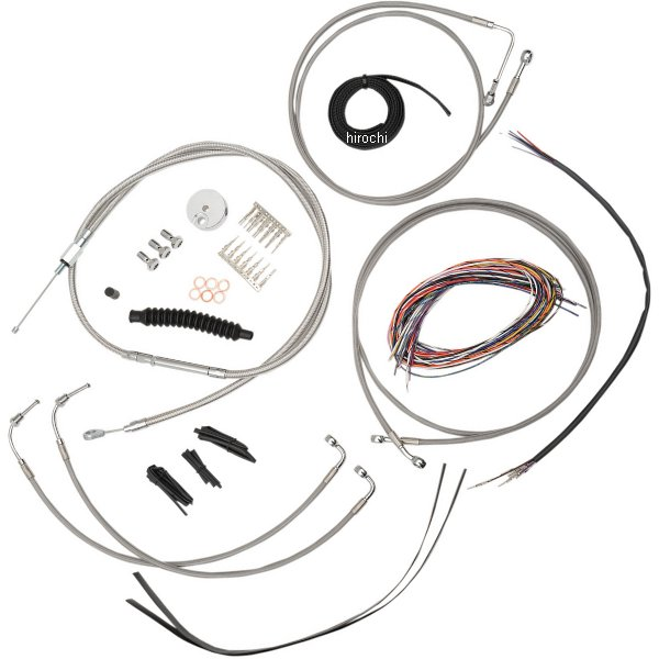 【USA在庫あり】 LAチョッパーズ LA Choppers ケーブルキット ステンレス 08年-13年 FLHT ABS付き 18-20インチ エイプバー用 0610-1242 JP店