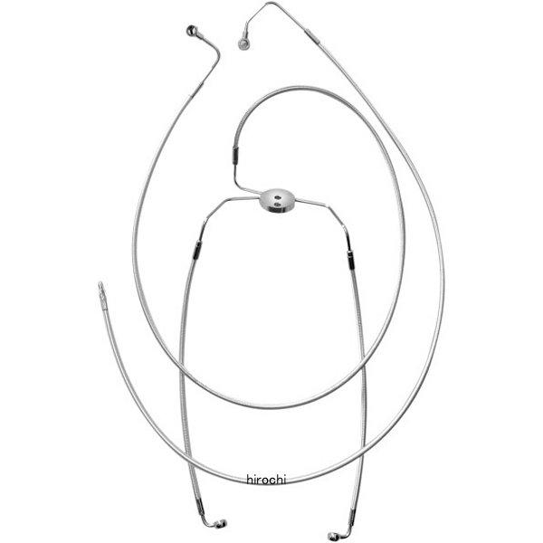 【USA在庫あり】 マグナム MAGNUM フロント ブレーキライン ロワー FLH(デュアルディスク) クローム 1741-1859 JP