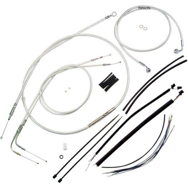 【USA在庫あり】 マグナム MAGNUM ケーブル キット クローム 12年以降 FXDB、FXDC ABS付き 18-20インチ エイプバー用 0610-0878 JP