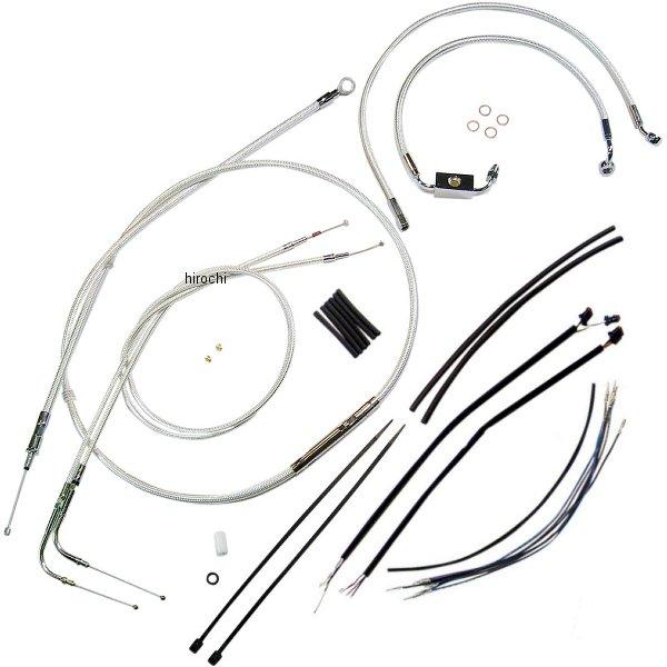 【USA在庫あり】 マグナム MAGNUM ケーブル キット クローム 12年以降 FLD ABS付き 15-17インチ エイプバー用 0610-0889 JP