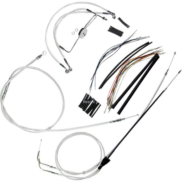 【USA在庫あり】 マグナム MAGNUM ケーブル キット クローム 96年-06年 FLHR、FLHX 18-20インチ エイプバー用 0610-0905 JP店
