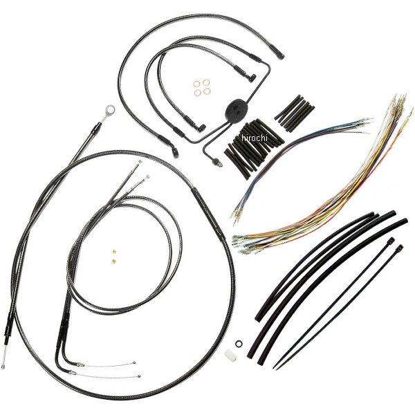 【USA在庫あり】 マグナム MAGNUM ケーブル キット 黒 08年-11年 FXDF 15-17インチ エイプバー用 0610-0988 JP店