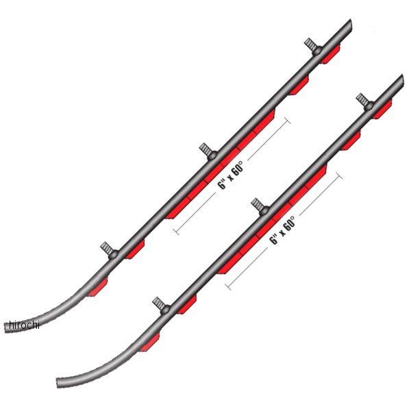 【USA在庫あり】 スノースタッフ Sno Stuff ランナー 506シリーズ 6インチ(152mm) Ski-Doo (左右ペア) 506-430 JP店