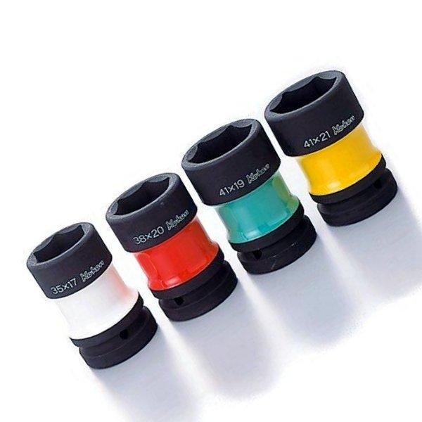 コーケン Ko-ken 1インチsq カラー塗装コンビソケットセット 4ヶ組 PW8P-4-KK JP店