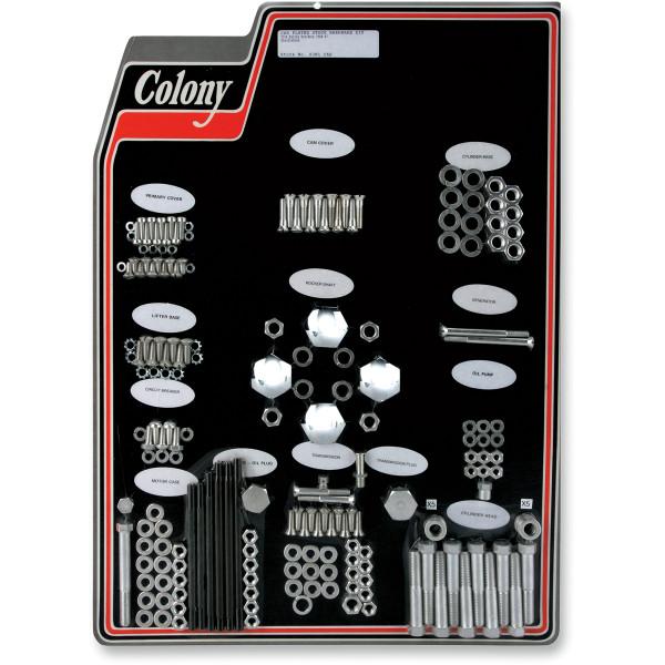 【USA在庫あり】 CAD コロニー Colony Machine エンジン ハードウェア キット 40年-47年 EL、FL シルバー 2401-0452 JP