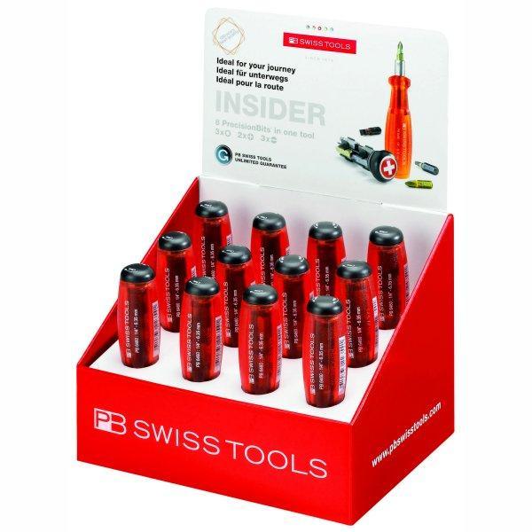 PBスイスツールズ PB Swiss Tools インサイダー(レッド・12本)ディスプレイセット 6460POS-PB JP店