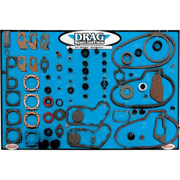【USA在庫あり】 DRAG エンジン ガスケット ディスプレイ ボード 57年-85年 XL 0934-0314 JP店