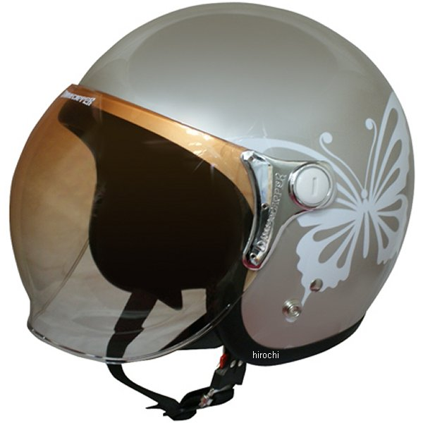 【メーカー在庫あり】 ダムトラックス DAMMTRAX ヘルメット NEW CHEER BUTTERFLY 女性用 グレーベージュ レディースサイズ(57cm-58cm) 4580184031282 JP店