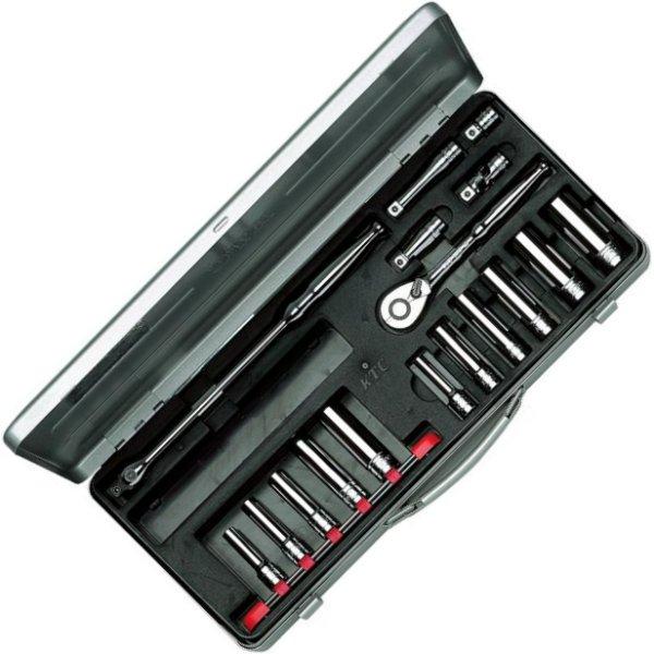 【メーカー在庫あり】 KTC 京都機械工具 9.5sq.ディープソケットレンチセット(17点)ミリサイズ TB3L11X-KC JP店