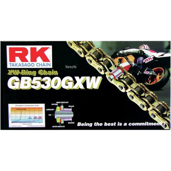 【USA在庫あり】 アールケー RK Racing チェーン XW-リング カシメタイプ GB530GXW 114リンク ゴールド 180666 JP