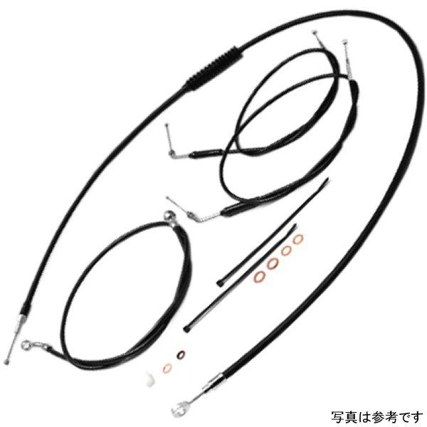 イージーライダース ケーブル キット 90年-95年 ダイナ、ソフテイル +9インチ(229mm) ケーブル、130cm ブレーキホース 黒 H5548-BK JP店