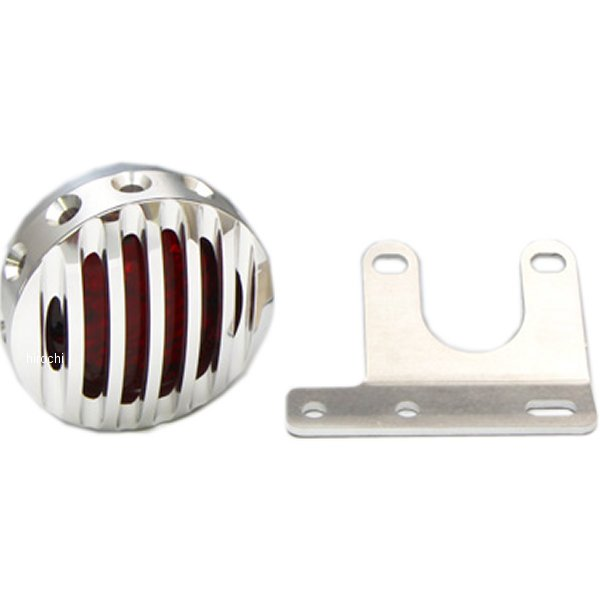 イージーライダース ドリルドフィン テールライト アルミ スタンディング サイドナンバー用 LED 赤レンズ ポリッシュフェイスセット 5904-ALR JP店