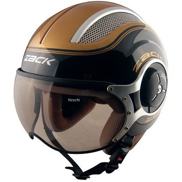 TNK工業 ジェットヘルメット ZACK ZQ-8 黒/ゴールド XLサイズ(60-62cm) 4984679510939 JP