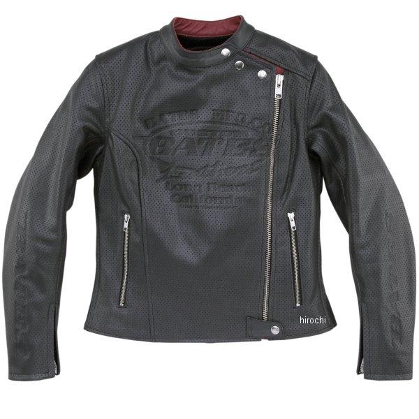 ベイツ BATES 2WAY パンチドホールレザージャケット レディース 黒 Mサイズ BAJ-L146 JP店