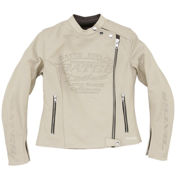 ベイツ BATES 2WAY パンチドホールレザージャケット レディース アイボリー Lサイズ BAJ-L146 JP店