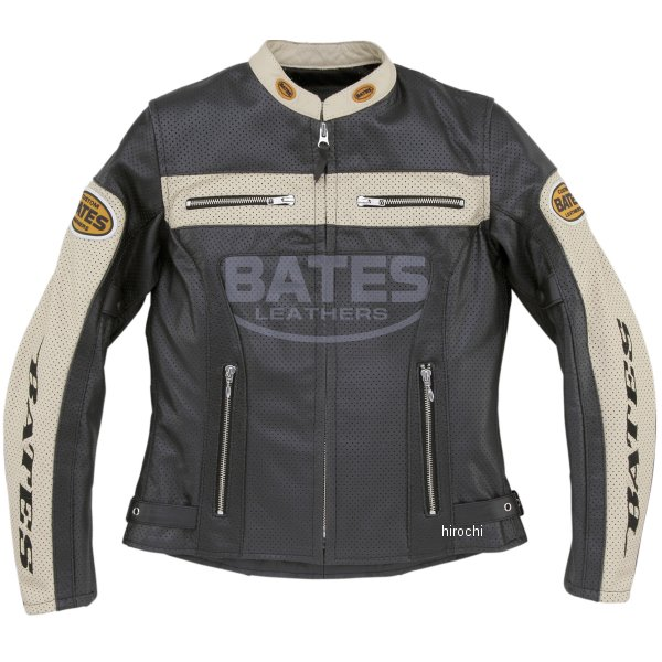 ベイツ BATES 2WAY パンチドホールレザージャケット レディース 黒 Mサイズ BAJ-L147 JP店