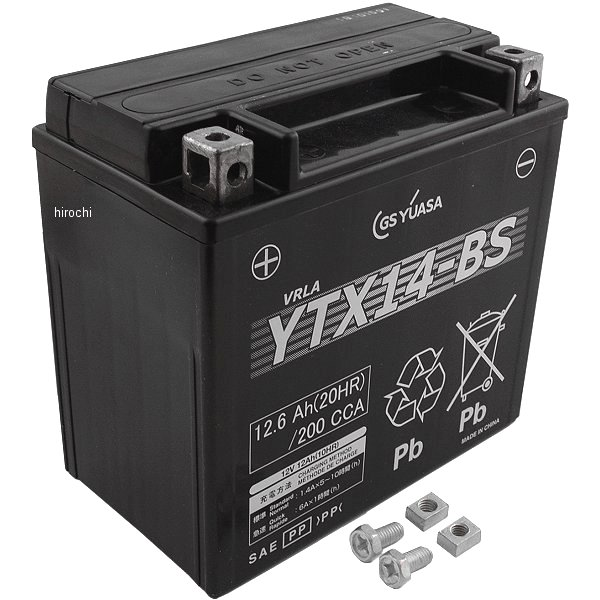 YTX14-BS GSユアサ MFバッテリー 制御弁型 12V (液入充電済) YTX14-BS-GY1-C JP店