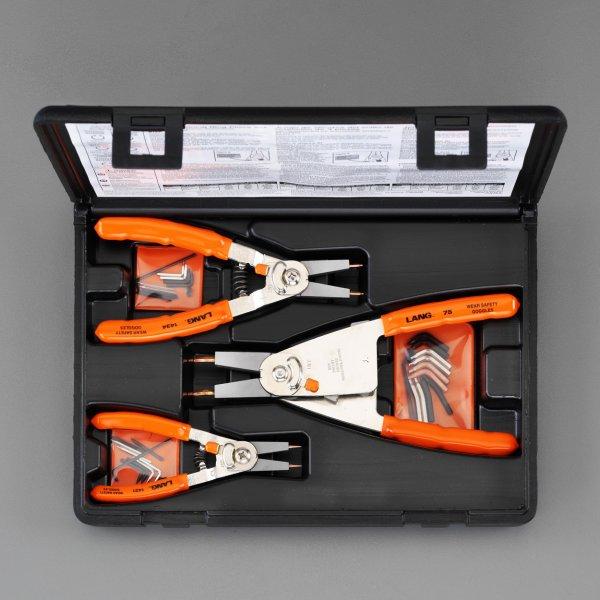 【メーカー在庫あり】 エスコ ESCO 3本組 スナップリングプライヤー(内外兼用) 000012204984 JP店