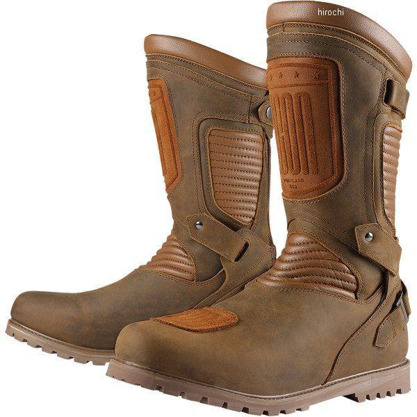 【メーカー在庫あり】 アイコン ICON ブーツ CE PREP ブラウン 14サイズ 32cm 3403-0639 JP店
