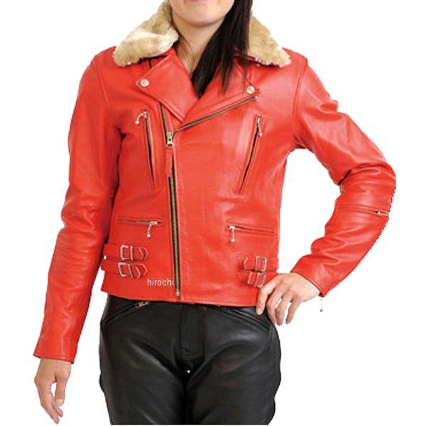 モトフィールド MOTO FIELD レザージャケット レディース 赤 Lサイズ MF-LJ104 JP店