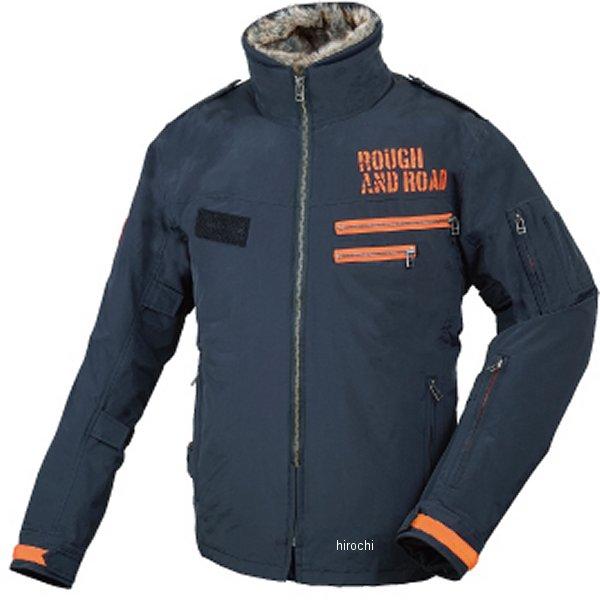 ラフ&ロード 秋冬モデル フライトジャケット 黒/オレンジ Lサイズ RR7683BK/OR3 JP店