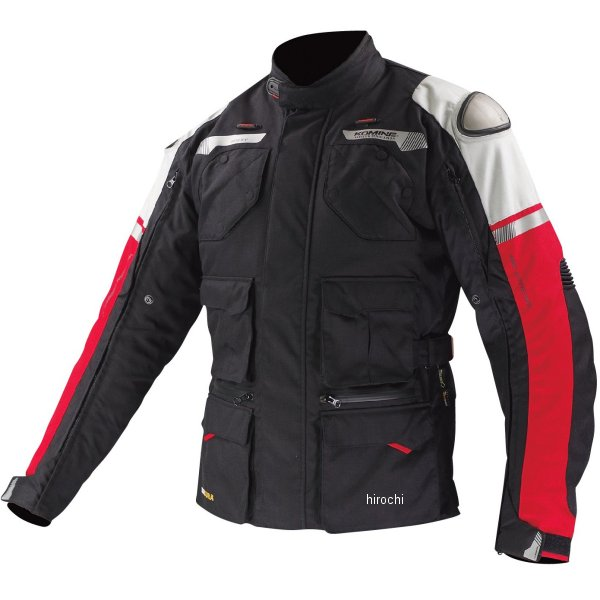 JK-578 コミネ GTX ツアラーウインタージャケット-チタニウム 黒/赤 Sサイズ 4573325711068 JP店
