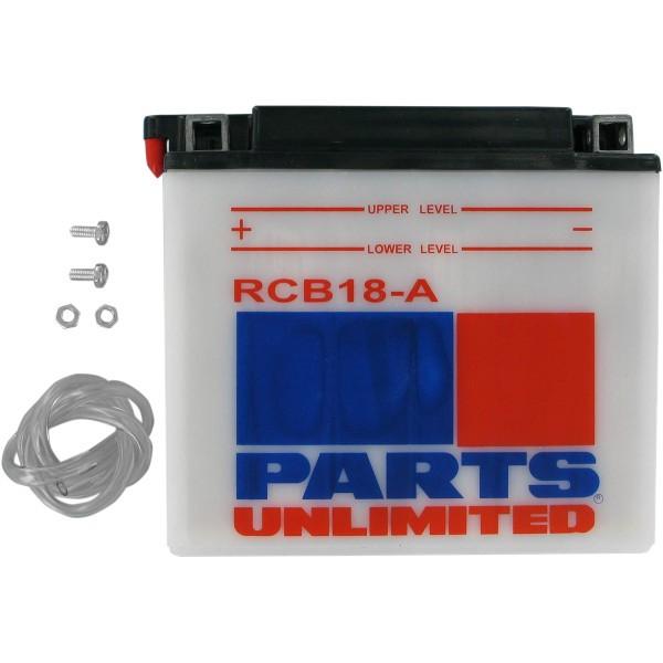 【USA在庫あり】 パーツアンリミテッド Parts Unlimited 液別 耐久バッテリー 開放型 12V YB18-A RCB18-A JP店