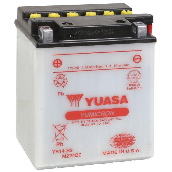 【USA在庫あり】 ユアサ YUASA バッテリー 開放型 YB14-B2 JP店