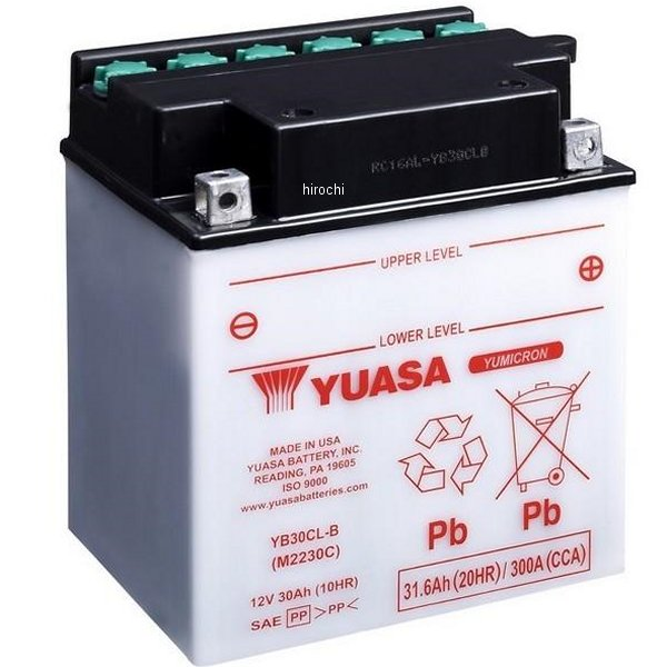 【USA在庫あり】 ユアサ バッテリー 開放型 YB30CL-B JP店