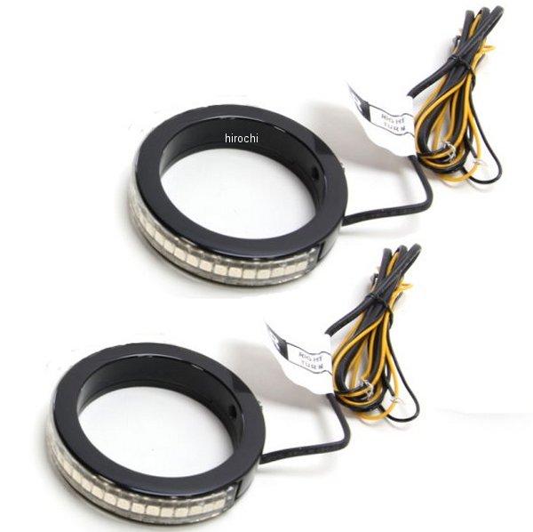 【USA在庫あり】 カスタムダイナミクス LEDウインカー Wrap-Around 39mmフォーク 黒/クリア/アンバー 2020-1212 JP店
