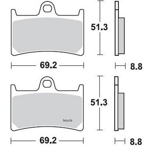 【USA在庫あり】 ブレーキング BRAKING ブレーキパッド フロント 97年-13年 Z1000、XV1900、FZ1 (CM66 セミメタル) 786CM66 JP店