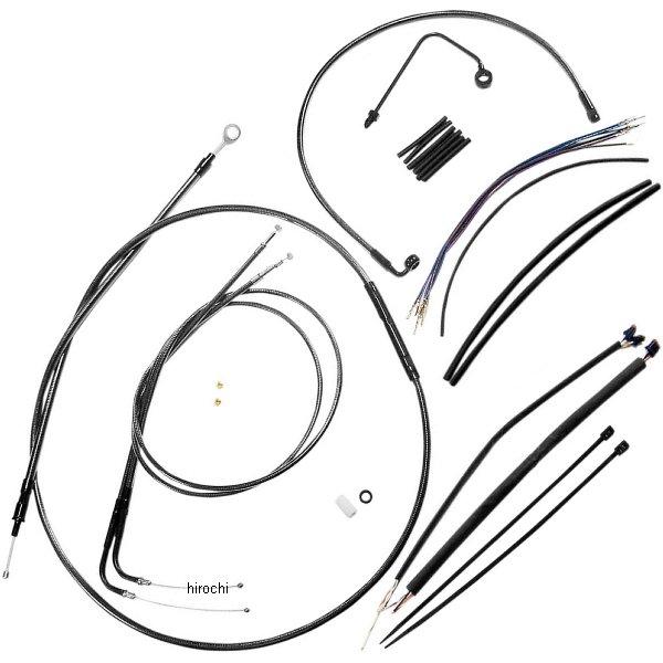 【USA在庫あり】 マグナム MAGNUM ケーブル キット 黒 15年 FXSB ABS付き ロワーホース無し 18-20インチ エイプバー用 0662-0066 JP店