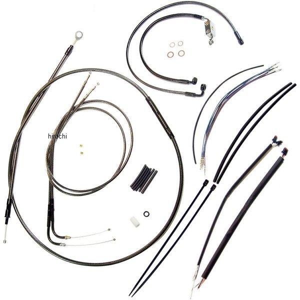 【USA在庫あり】 マグナム MAGNUM ケーブル キット 黒 14年以降 XL1200C、XL1200T、XL1200X ABS付き 14-16インチ エイプバー用 0662-0084 JP店