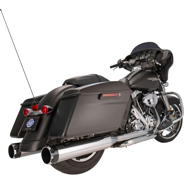 【メーカー在庫あり】 S&Sサイクル S&S Cycle 4.5インチ スリップオンマフラー 95年-06年 クローム/黒 Thruster 550-0619 JP店