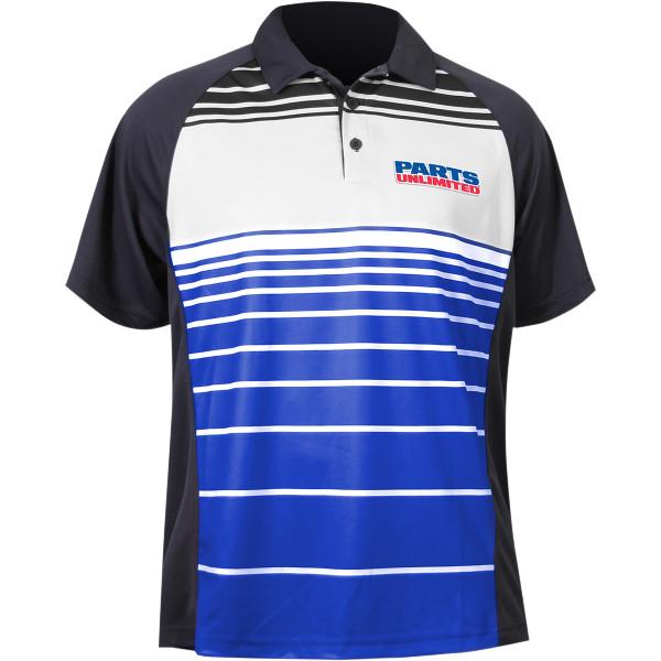 【USA在庫あり】 スロットルスレッズ Throttle Threads ポロシャツ Parts Unlimited 青 Sサイズ 3040-1984 JP店