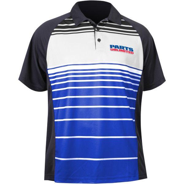 【USA在庫あり】 スロットルスレッズ Throttle Threads ポロシャツ Parts Unlimited 青 Lサイズ 3040-1986 JP店