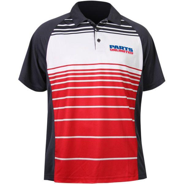 【USA在庫あり】 スロットルスレッズ Throttle Threads ポロシャツ Parts Unlimited 赤 2XLサイズ 3040-1995 JP店
